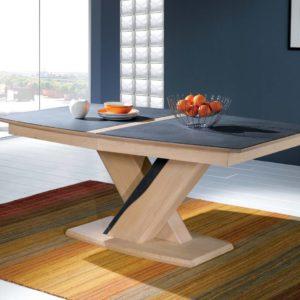 Table rectangualire chêne et céramique Ateliers de Langres – CERAM