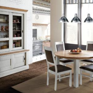 Salle à manger chêne massif Ateliers de Langres – ROMANCE / TABLE RONDE