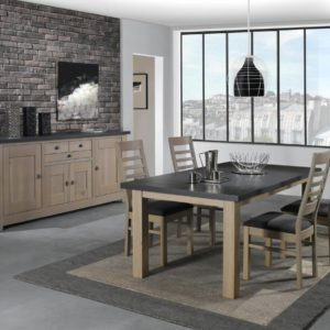 Salle à manger chêne massif Ateliers de Langres  – WHITNEY / TABLE RECTANGULAIRE