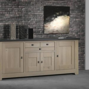 Bahut bas 4 portes chêne massif design Ateliers de Langres – WHITNEY