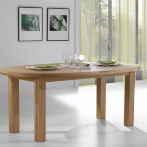 Table ovale chêne massif Ateliers de Langres – WHITNEY