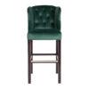 chaise confort de bar tissu bois