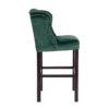 chaise de bar confort tissu pieds bois noirs clous argent qualite richmond interiors daisy