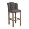 chaise haute design confort tissu lin gris