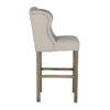 chaise haute confort tissu avec clous argent