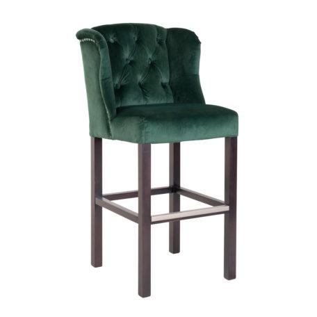 chaise haut de gamme tissu vert