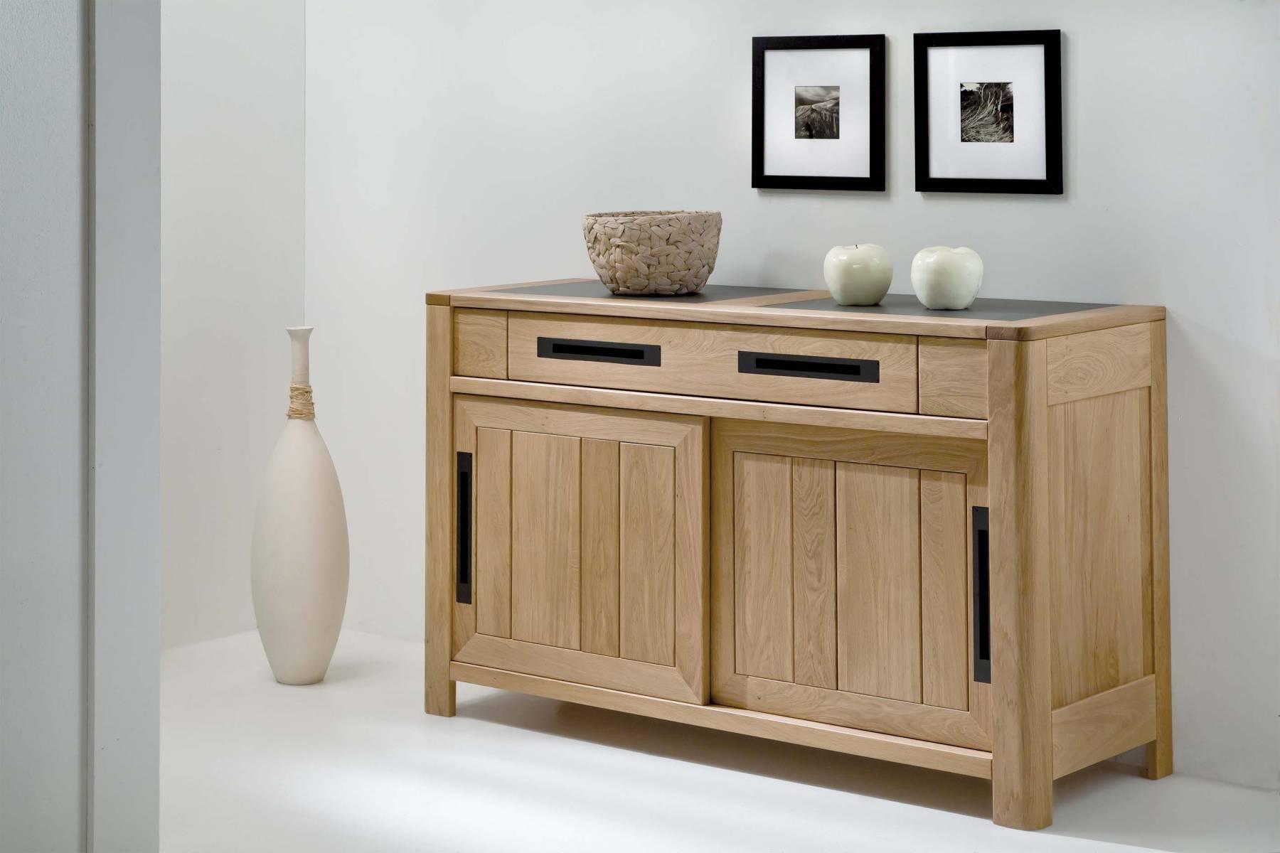 bahut deauvil 2 portes bois deco. Black Bedroom Furniture Sets. Home Design Ideas