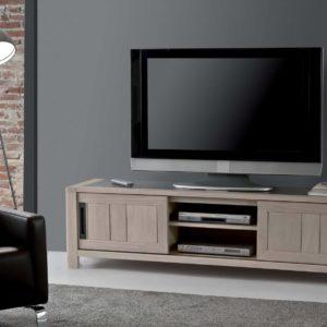 Meuble TV chêne massif et céramique Ateliers de Langres – DEAUVIL