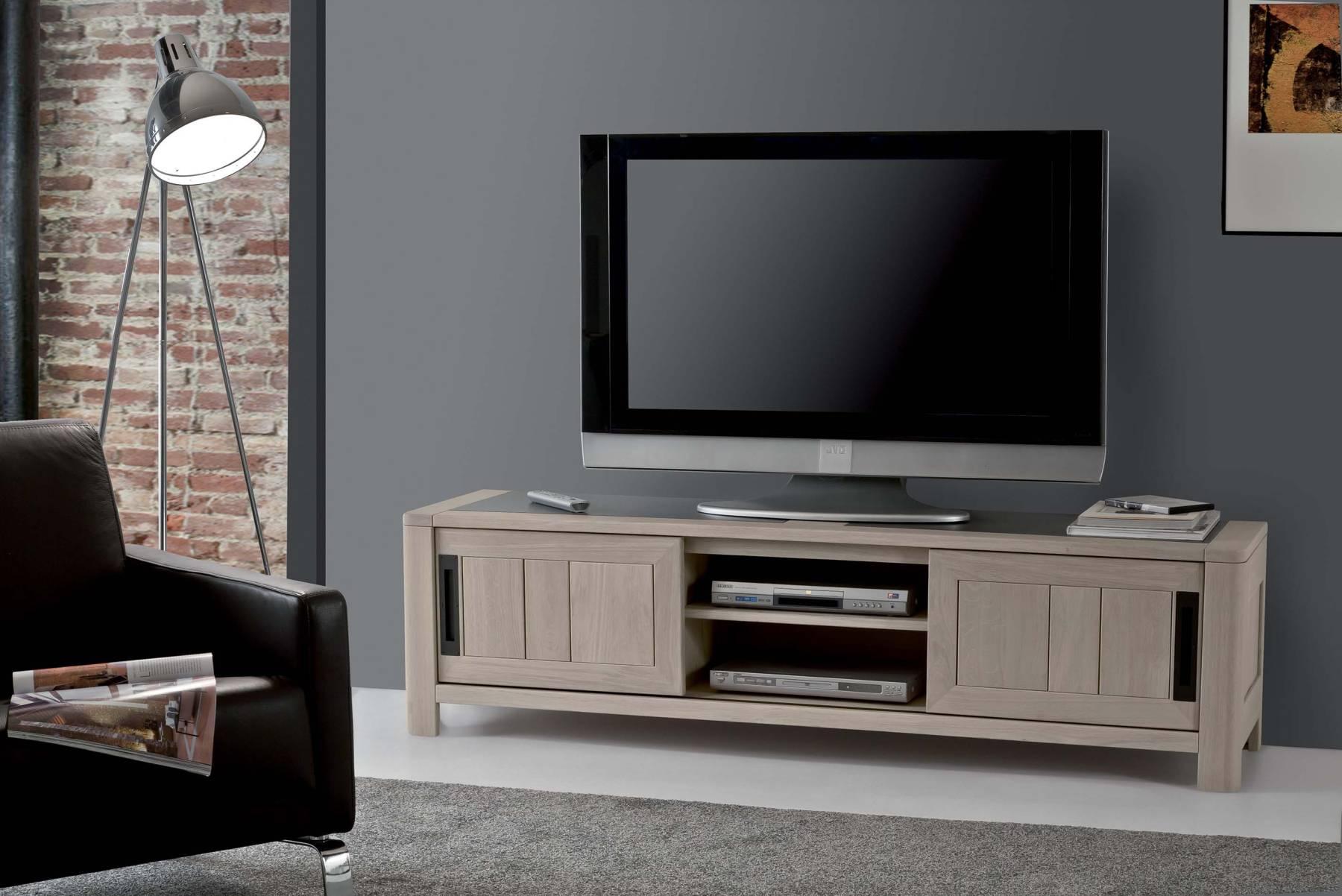 meuble t v deauvil bois deco. Black Bedroom Furniture Sets. Home Design Ideas