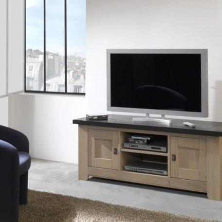 WHITNEY Meuble TV gris