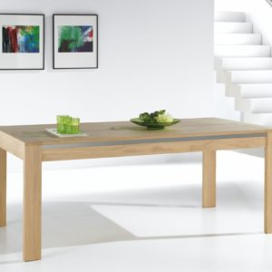 Table rectangulaire chêne massif Ateliers de Langres –YUCCA