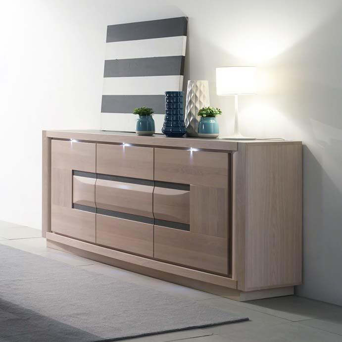 salle a manger meuble table chaise buffet marina chene. Black Bedroom Furniture Sets. Home Design Ideas