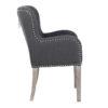 chaise tissu lin coton naturel gris avec clous ivy richmond interiors