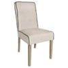 chaise luca tissu coton lin beige passepoil noir richmond interiors