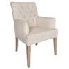 chaise romero tissu lin beige