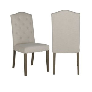 chaise lin beige