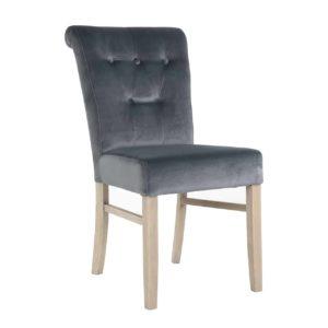 chaise confortable tissu gris pieds bois