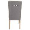 dos chaise luca tissu coton lin gris passepoil blanc poignet grise