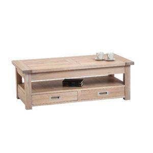 Table basse carrée ou rectangulaire avec allonge chêne massif – TORONTO