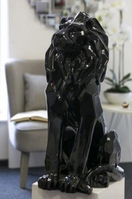 statue deco lion. Black Bedroom Furniture Sets. Home Design Ideas