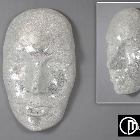 masque-visage-mural-3d-mosaique-blanche