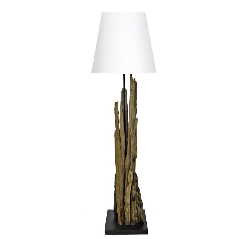 lampadaire maori bois flotte naturel boisetdeco decoration. Black Bedroom Furniture Sets. Home Design Ideas