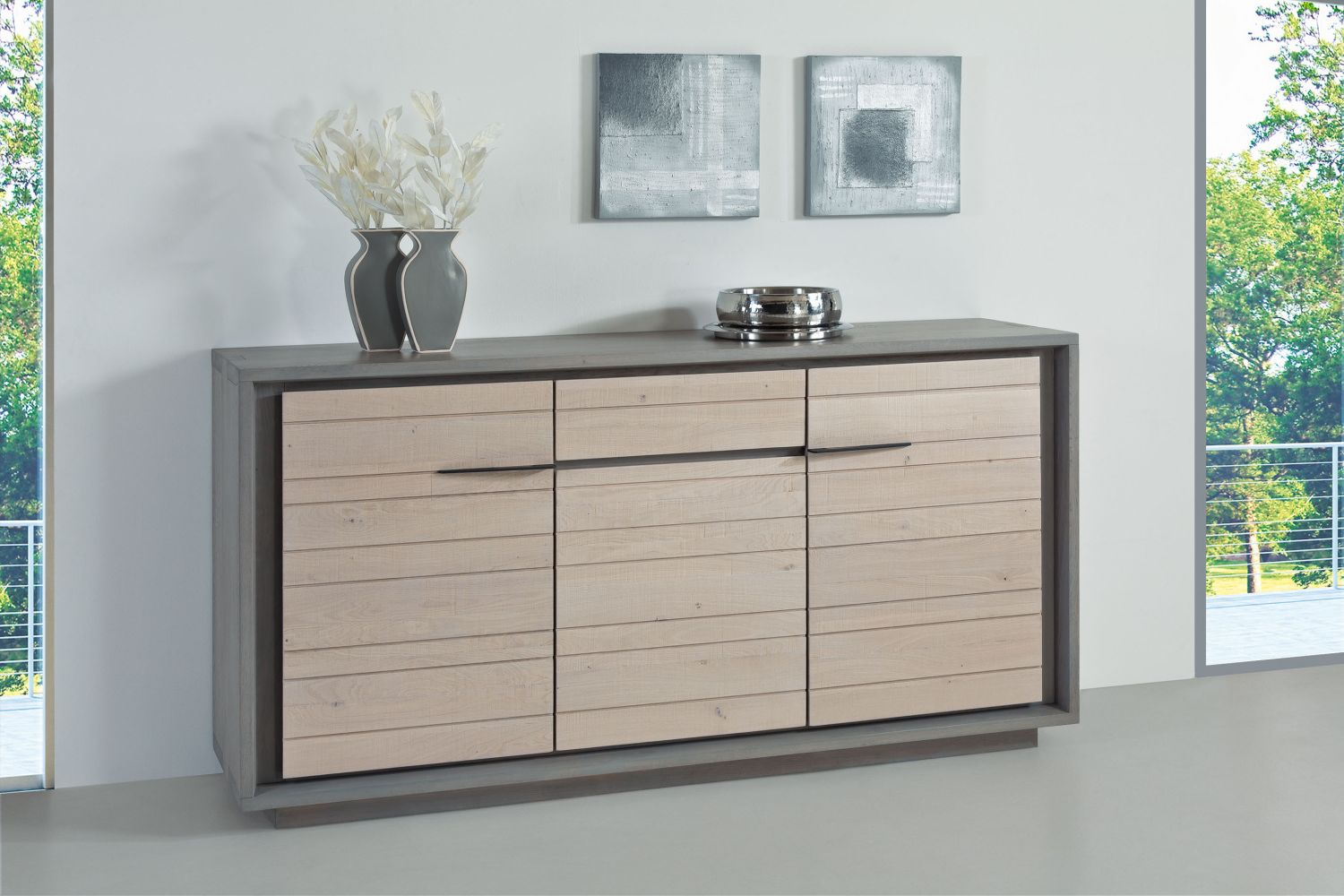 salle manger contemporaine ateliers de langres zen pieds bois bois deco. Black Bedroom Furniture Sets. Home Design Ideas