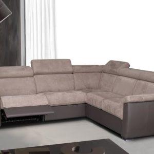 Canapé 2, 3 ou 4 places avec ou sans méridienne tissu ou cuir – DENISE