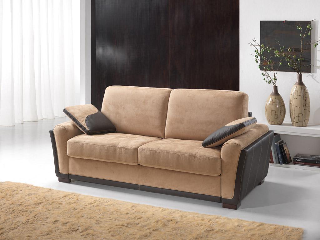 canap convertible 2 3 places lisa bois deco. Black Bedroom Furniture Sets. Home Design Ideas