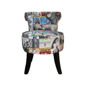 Chauffeuse petit fauteuil moderne tissu au choix – ANITA