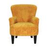 fauteuil jaune orange
