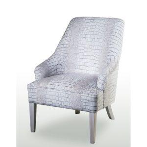 fauteuil-blanc-tissu-motif-crocodile-design