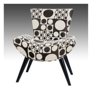 fauteuil moderne tissu marron beige motif