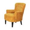 fauteuil velours jaune