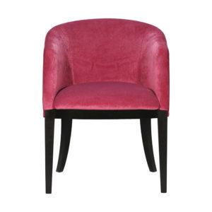 petit fauteuil rose pieds noirs