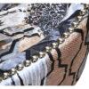 Fauteuil CONFORTABLE tissu motifs avec clous