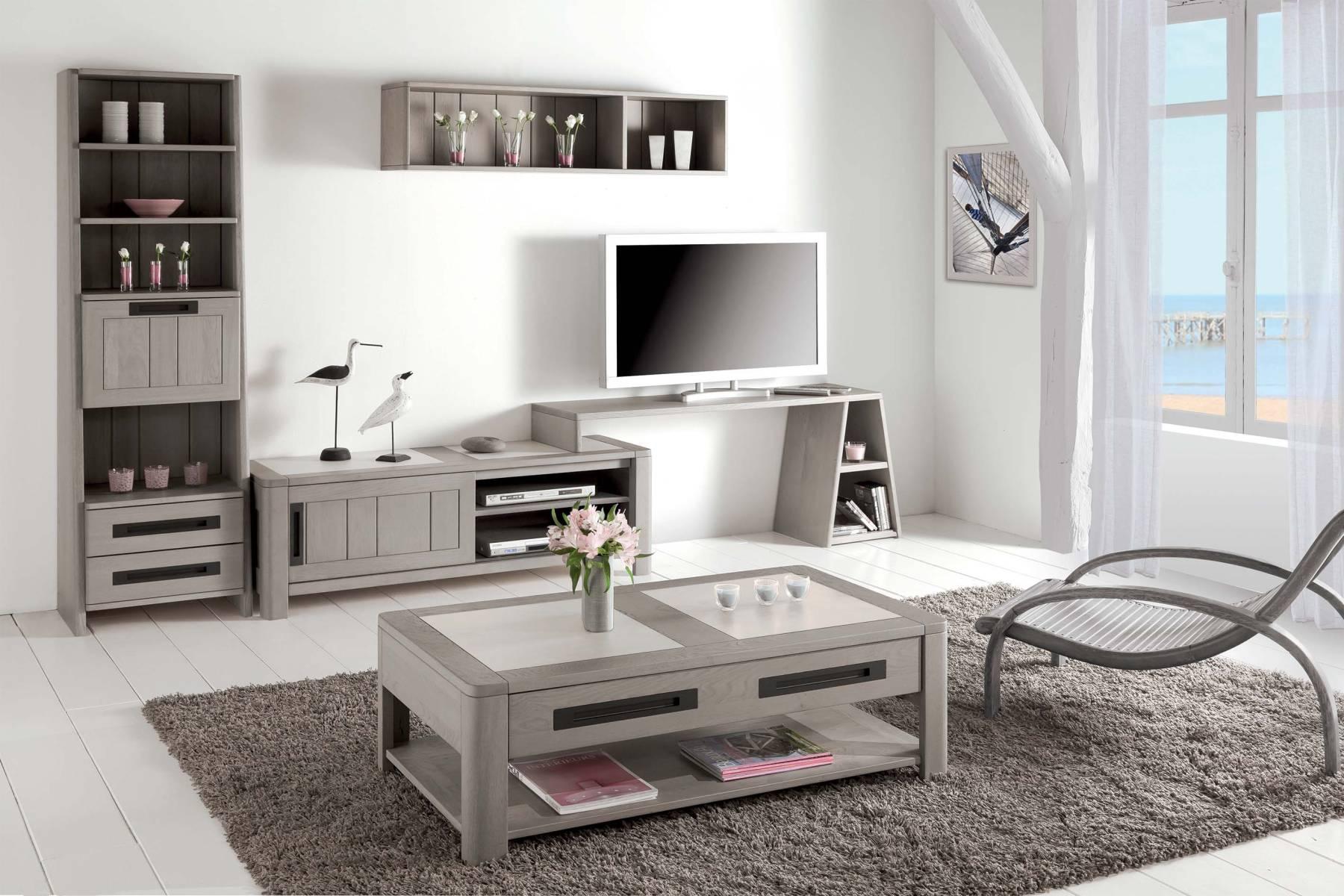 meuble et support t v deauvil bois deco. Black Bedroom Furniture Sets. Home Design Ideas