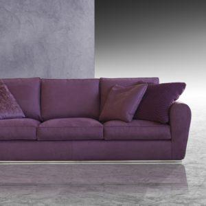 Canapé moderne fixe 3 places en tissu Made in Italy – LAVANDA
