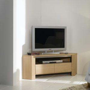 Meuble tv zen 2 portes bois deco for Meuble tv zen