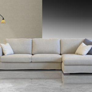Canapé d'angle cocooning 3 places en tissu déhoussable – ROSE