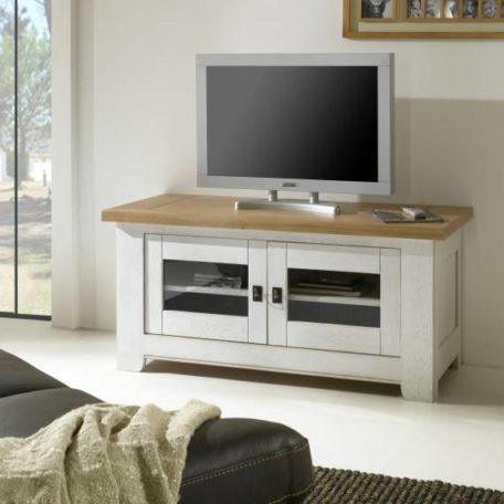 WHITNEY Meuble TV blanc
