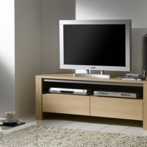 Meuble TV 1tiroir 1niche 100% chêne massif Ateliers de Langres – YUCCA