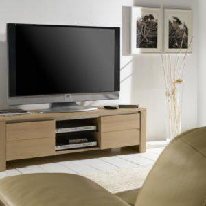 Meuble TV 2 portes 100% chêne massif Ateliers de Langres – YUCCA