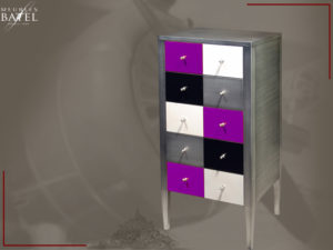 Chiffonnier 5 Tiroirs Petit Meuble Design Colore Metal