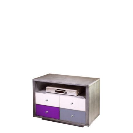 petit-meuble-tv-1-niche-2-portes-design-metal-brosse-couleurs