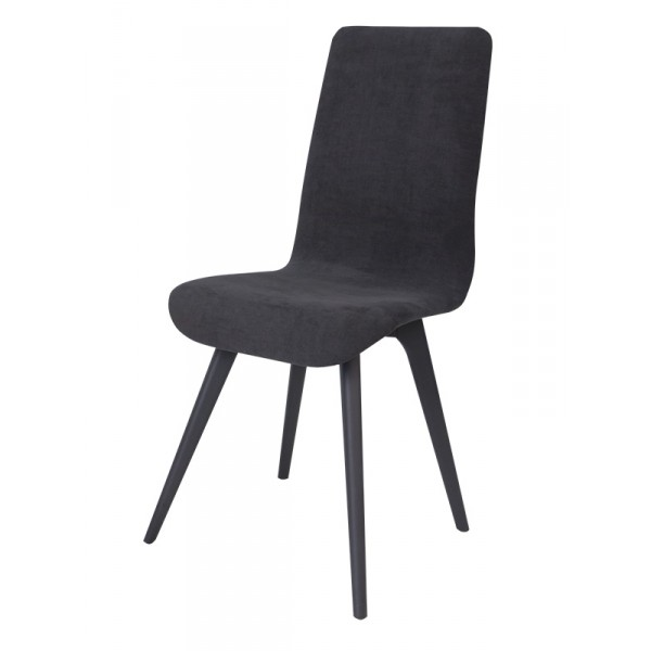 Chaise lotus tissu et bois noir bois deco for Chaise noire tissu