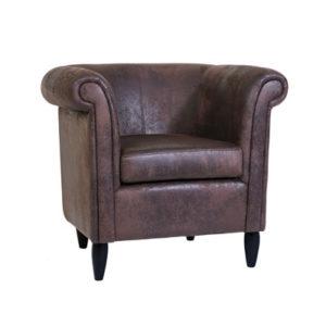 fauteuil moderne marron