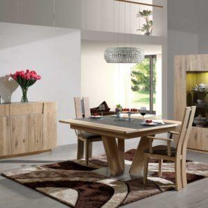 Salle à manger en chêne naturel et céramique – FOREST