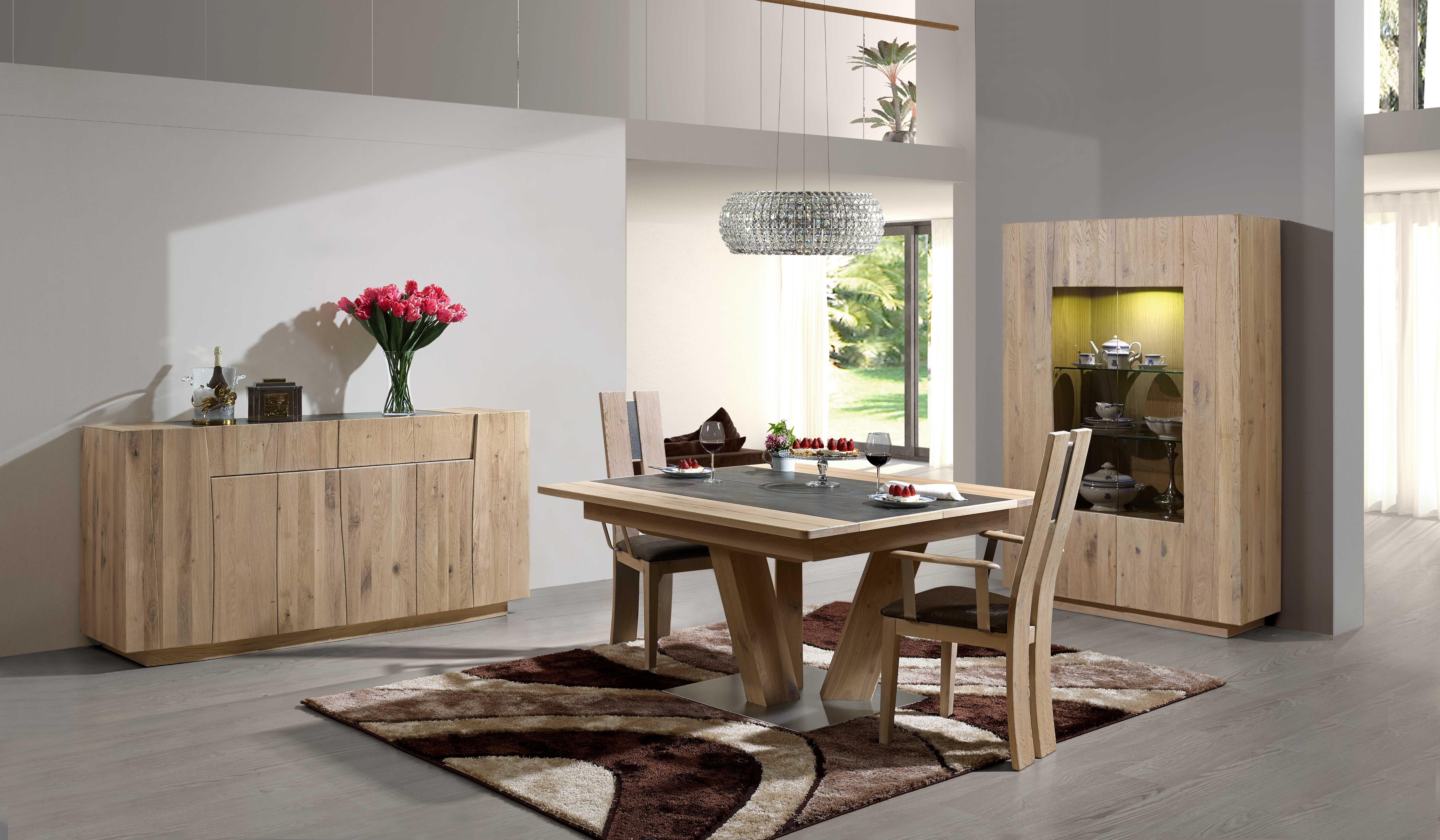 Salle manger contemporaine forest bois deco - Modele salle a manger ...