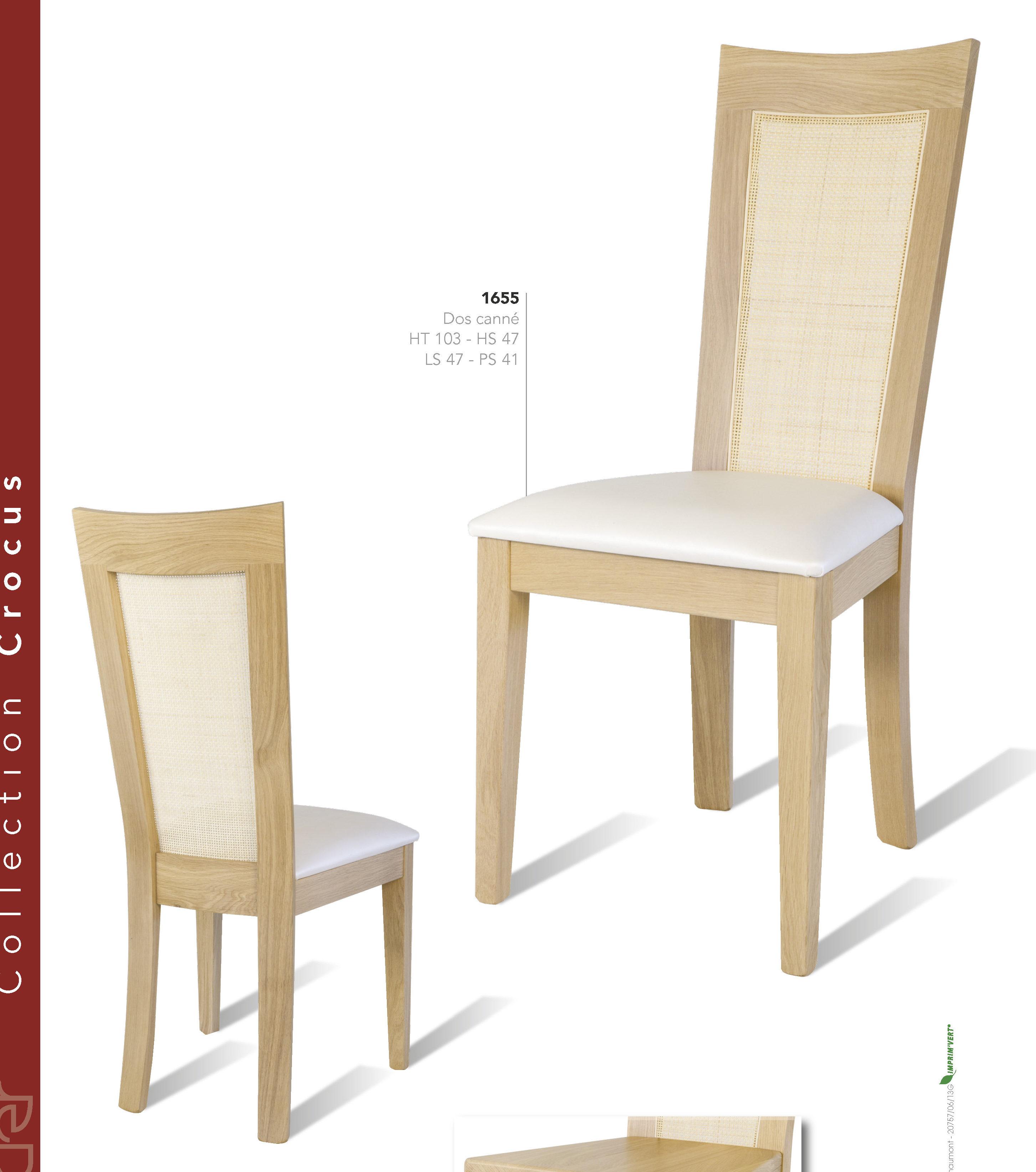chaise crocus 1655 bois deco beauvois cambresis meuble. Black Bedroom Furniture Sets. Home Design Ideas